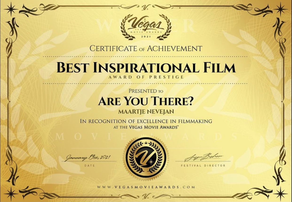 BEST INSPIRATIONAL FILM – Award of Prestige Vegas Movie Awards.