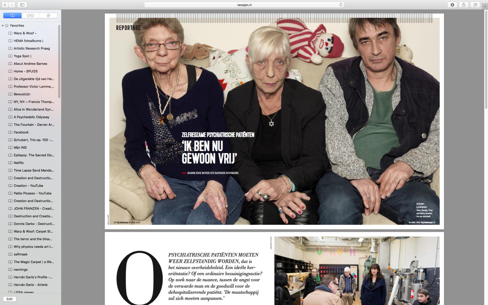 Zelfredzaamheid- (Vrij Nederland)