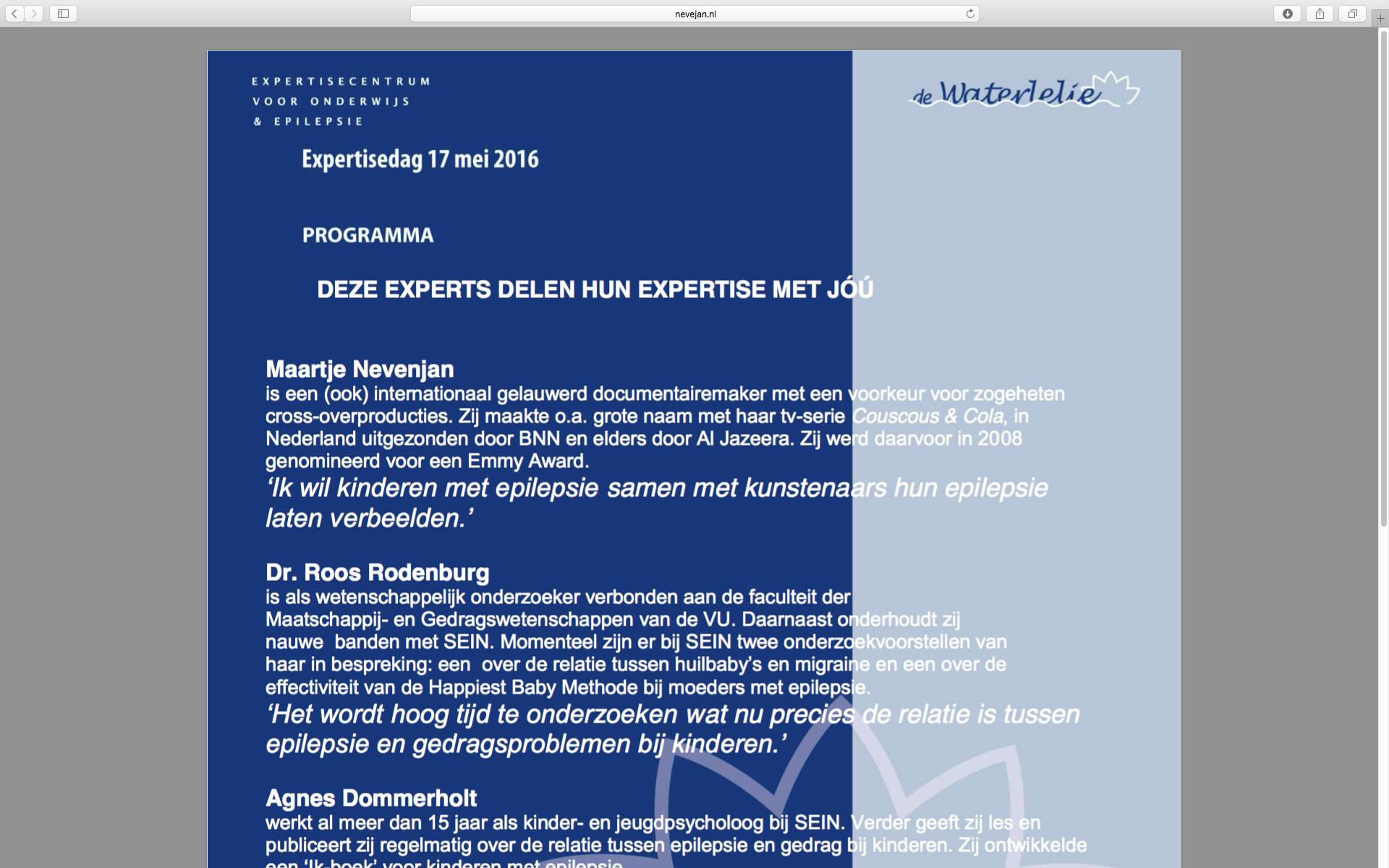 Expertisedag Epilepsie 2016, Cruqius