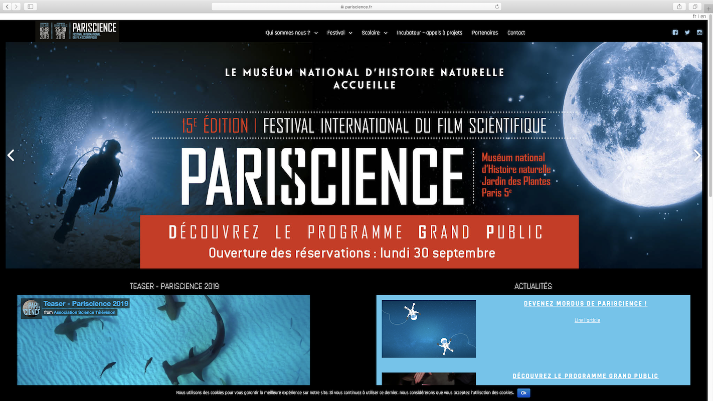 """""""Are you there"""" in the Grand Ecran selection in Paris, October 27th 2019: Es-tu là?"""