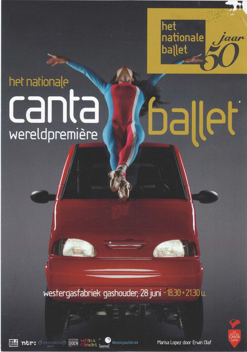 Bessensaus met rozen, over het Canta Ballet