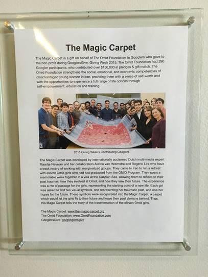 Google HQ California exhibits our Magic Carpet