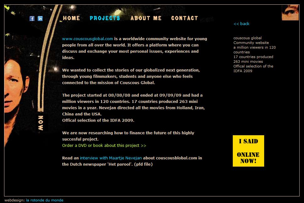 New website not complete yet